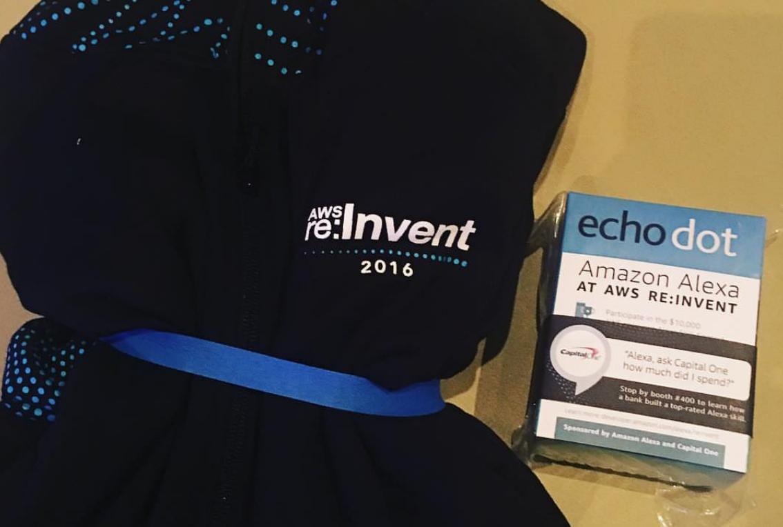 AWS re:Invent 참가자들 전원에게 에코닷 선물!